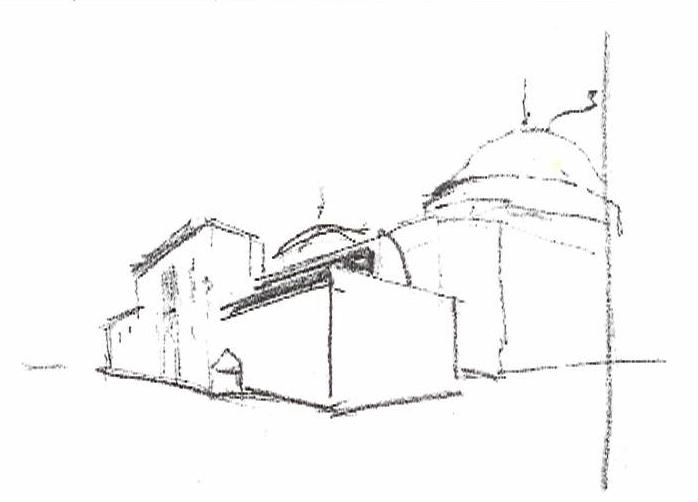 Croquis del Museo Salzillo realizado por el arquitecto Yago Bonet