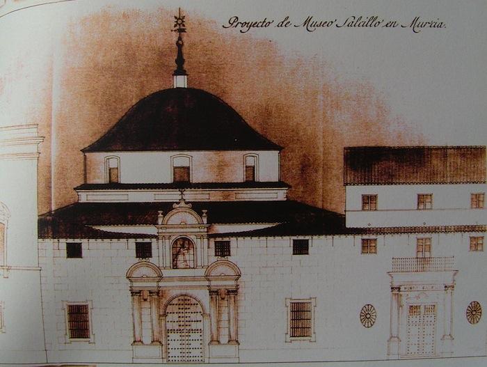 Proyecto del Museo Salzillo de José Tamés propuesta en 1950