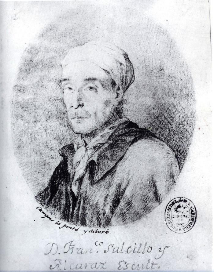 Imagen de retrato de Francisco Salzillo por Joaquín Campos (Biblioteca Nacional)