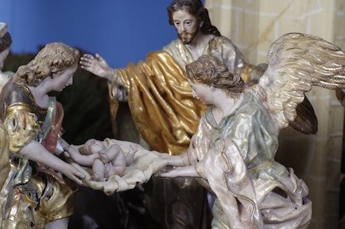 Imagen del Belén de Salzillo, detalle del Nacimiento