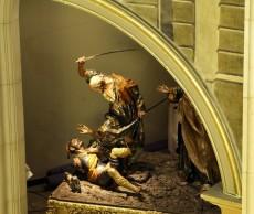 Vista del paso del Beso de Judas desde la Sala de Tribunas