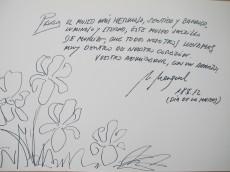 Dedicatoria de Antonio Martínez Mengual al Museo Salzillo