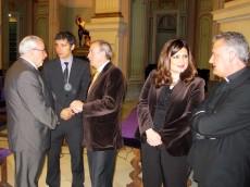 Jose Luis Mendoza, Pedro Alberto Cruz, Antonio Gómez Fayrén, Mª Teresa Marín y Jose Alberto Cánovas