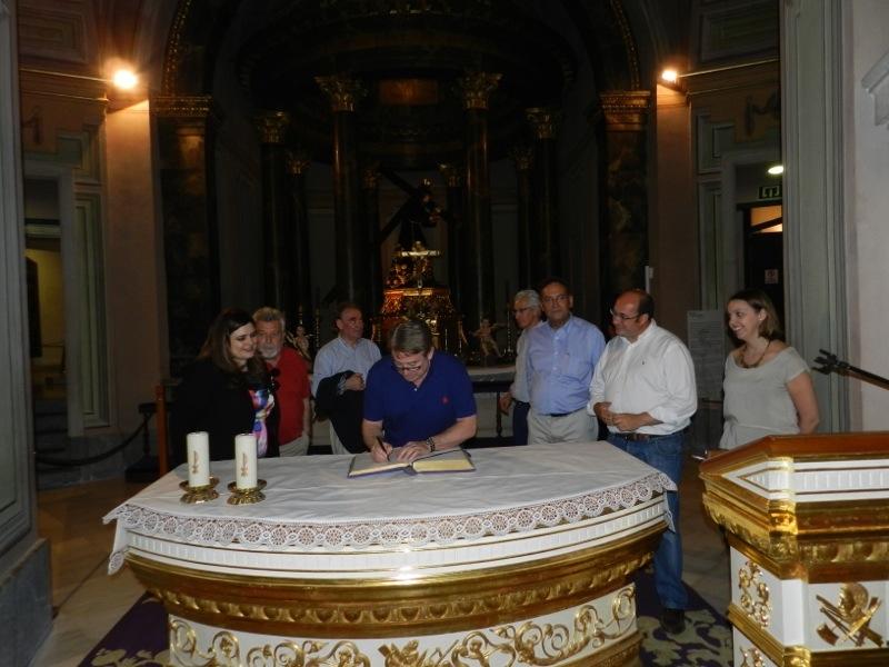Visita de los Senadores del Reino de Murcia