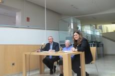 D. Antonio Gómez Fayren, Dña. Remedios Ramos Sánchez y Dña. María Teresa Marín Torres en el acto de donación