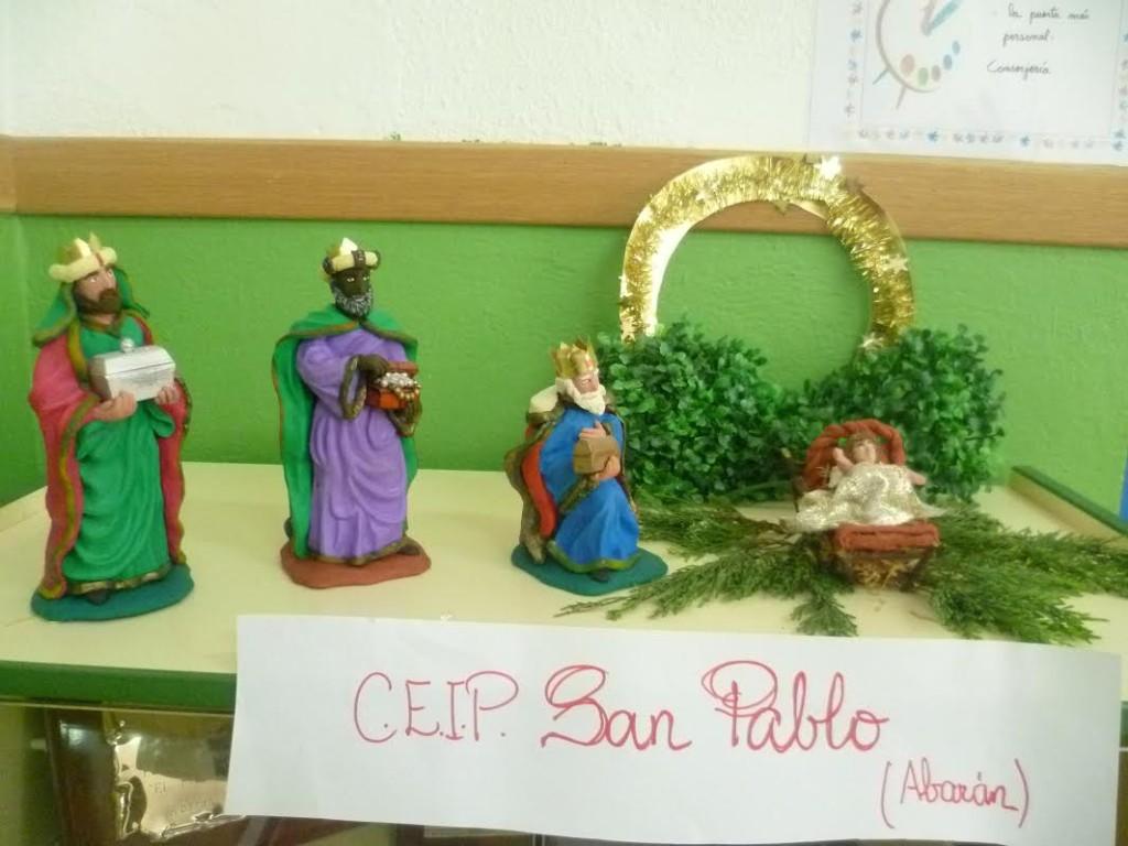 Belen en plastilina ganador (Reyes Magos) - CEIP San Pablo, Abaran