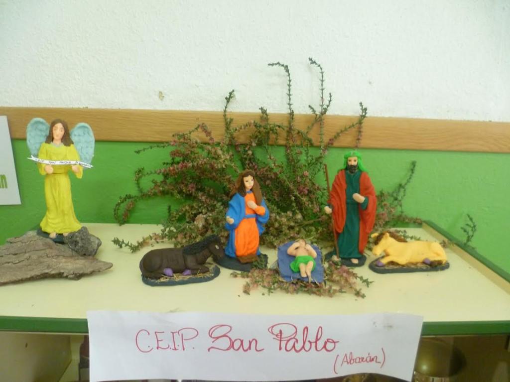Belén en plastilina ganador - CEIP San Pablo, Abarán