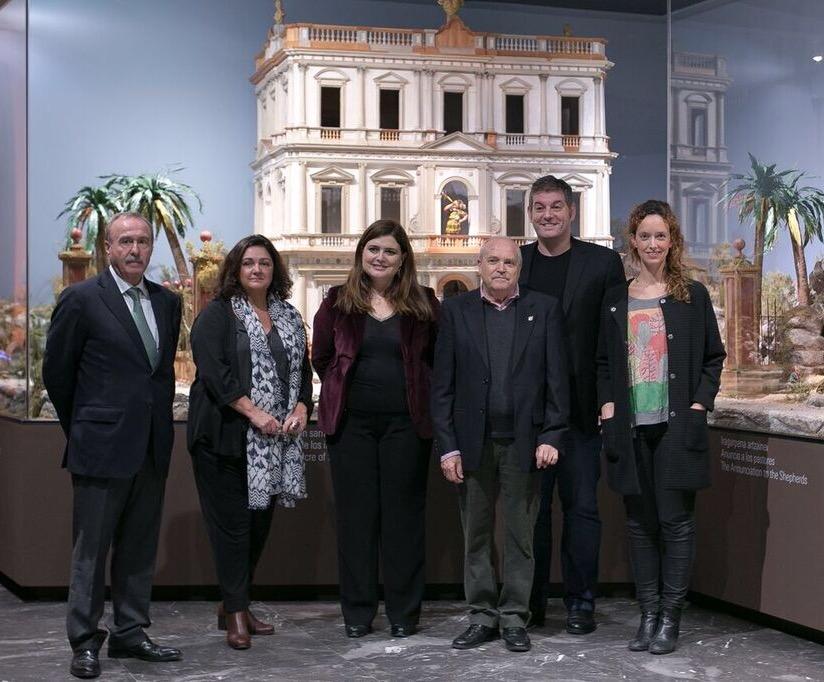 El equipo de Bilbao: María José García-Otaiza, jefa del Departamento de Restauración, Javier Novo, jefe del Departamento de Colecciones y Silvia García, Asistente de Dirección del Museo.